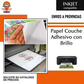 Papel Couche Autoadhesivo Brillo A4/a3 Para Impresora Inject