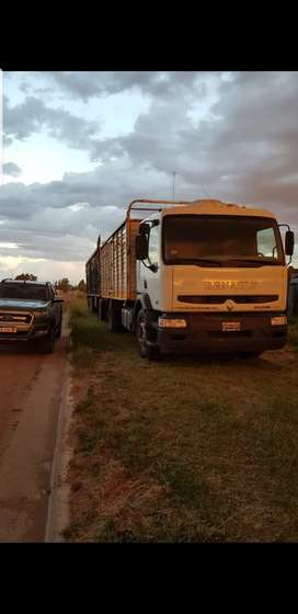 Camión enganchado mixto cereal y hacienda