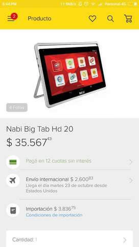 Vendo Tablet de 20 Pulgadas