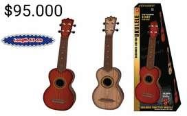 Mini Ukulele Guitarra de Madera Ukelele Para Niños