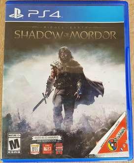 Videojuego SHADOW OF MORDOR para PS4 (Juego Físico)