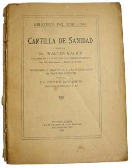 Cartilla De Sanidad Walter Kalier, Usado 1934 Reliquia
