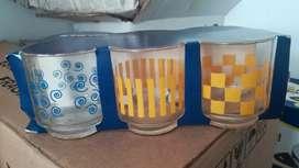 Vasos cortos en vidrio