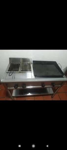 Cocina industrial como nueva en acero calibre 22