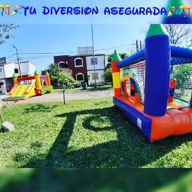 Alquiler de Castillo Cama Metegol Y Tejo