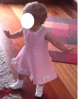 Vestidos Para Niña Marca Bonnie Baby talla 12 meses