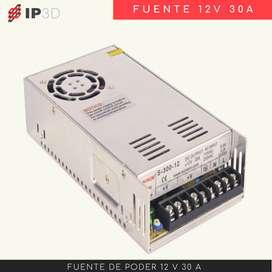 Fuente de poder 12 V 30 A
