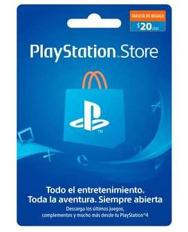TARJETA PLAYSTATION NETWORK 20 USD GIFT CARD