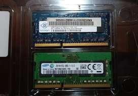 Memorias ram 2 GB c/u