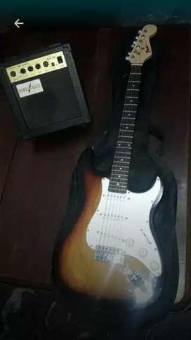 Guitarra Electrica Green Field con Ampli 10w