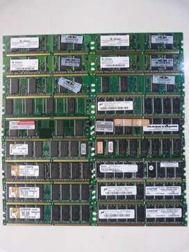 Lote 36 Memorias DDR 128MB, 256MB, 512MB, 1GB, ECC y REG