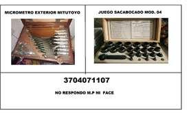 JUEGO MICROMETRO Y JUEGO SACABOCADOS