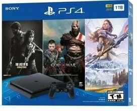 Playstation 4 de 1TB con 3 Juegos de paquete