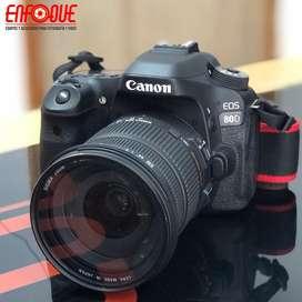 Camara canon 80d lente 17-50mm 2.8