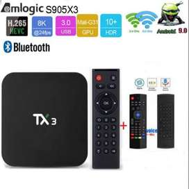TV BOX TX3  4-64GB ANDROID 9.0 + MINI TECLADO MX3