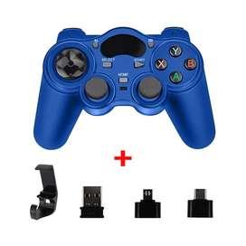 Control De Juego Gamepad Inalámbrico + Soporte+ Receptores Usb