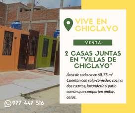 SE VENDEN DOS CASAS JUNTAS EN VILLAS DE CHICLAYO