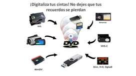 Conversion y Digitalización de videos - VHS - Betamax - Digital 8 - Hi8 - VHS Mini DV
