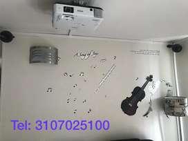 instalacion video beam proyectores bogota tel: 31O7O25100