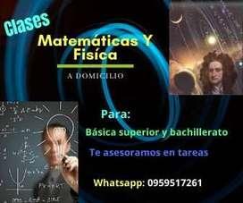 Clases a domicilio Matemáticas y Física