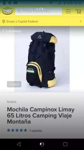 Mochila campinox 65 litros , nueva!