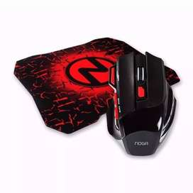 Combo Mouse Gamer 7 Botones Con Pad Gamer Noga