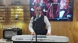 Organista y cantante,en vivo todos generos, celebra genial