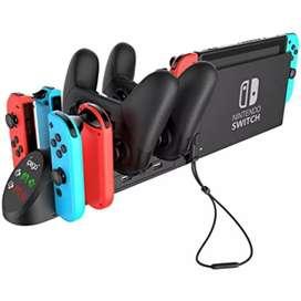 Base de carga PG-9187 compatible con los controladores Nintendo