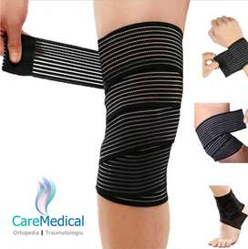 Rodillera Elastica Tipo Venda - 2 U - Ortopedia Care Medical