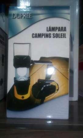 Lámpara camping soleil