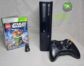 Xbox 360 E original 4GB + pendrive + 4 juegos
