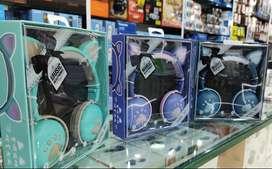 Audífonos Diadema Bluetooth Fm Micro Orejas De Gato Y Luces  · Disponibles
