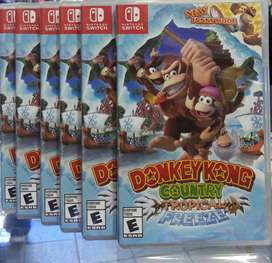 DONKEY KONG COUNTRY TROPICAL FREEZE NINTENDO SWITCH NUEVO SELLADO ENVIOS