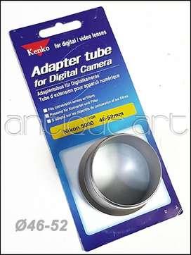 A64 Tubo Adaptador 46-52mm Rosca Nikon 5000 Filtros Macro