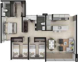 CEDO Inversión en apartamento Provenza Club 88 metros cuadrados