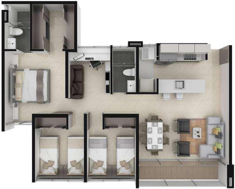 CEDO Inversión en apartamento Provenza Club 88 metros cuadrados 0