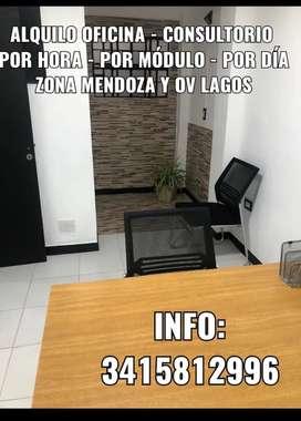 Alquilo oficina - consultorio  Por hora - por módulo - por día Zona Mendoza y ov lagos
