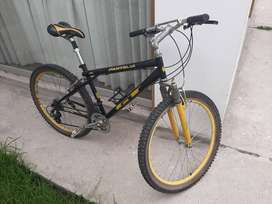 Bicicleta GT Pantera negra/amarillo