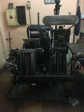 Máquina De Imprenta Heidelberg De Aspa