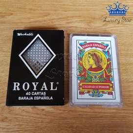Baraja Española Juego Mesa Cartas Royal Alta Calidad