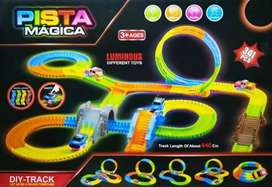 Pista Carreras Mágica Luminosa Flexible 341 Pcs
