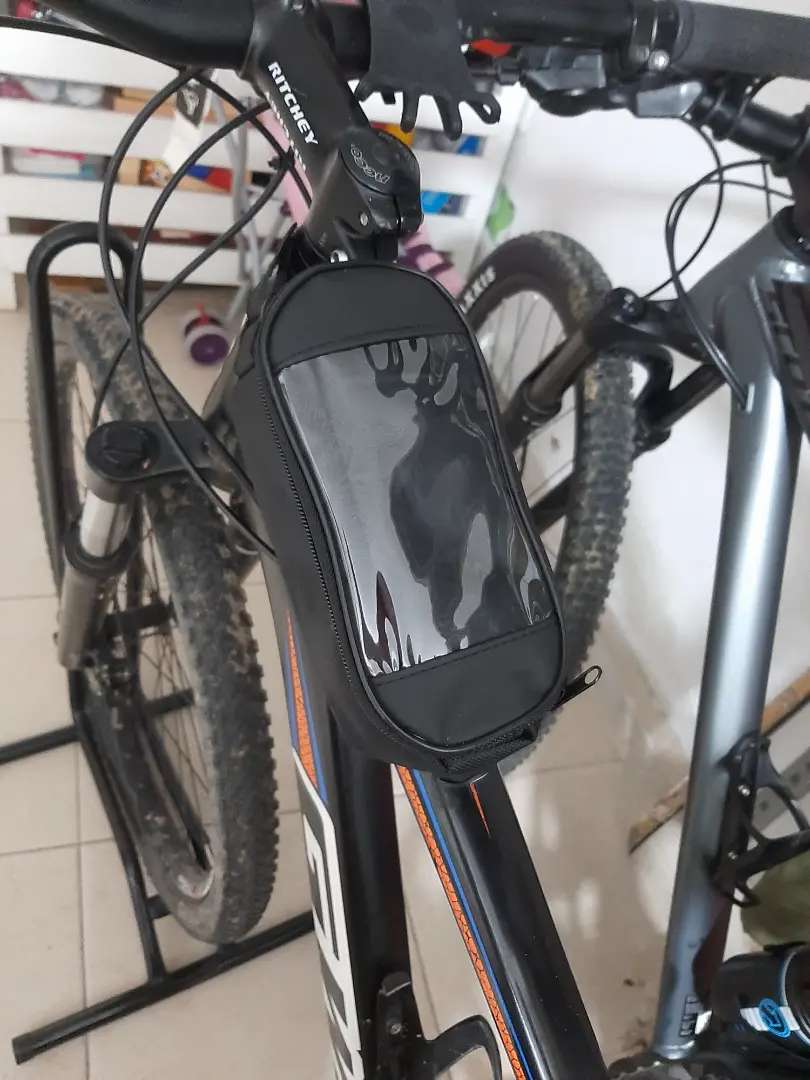 Canguro para bicicleta protector de celular y porta herramienta navaja multiusos llaves bristol y destorniladores