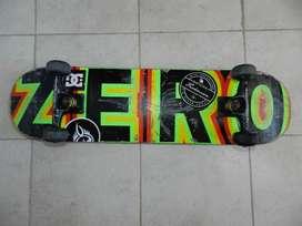 skateboard tabla ZERO y rulemanes INDEPENDENT abec7
