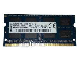 Memorias Ram 8 Gb 1600 Mhz Ddr3 PC3L Sodimm Para Laptop segunda mano  Perú