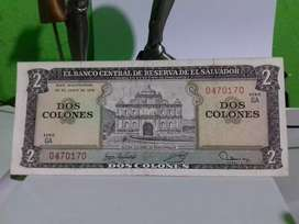 Billete de 2 colones