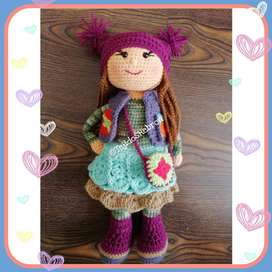 Muñeca Tejida a Crochet Lu
