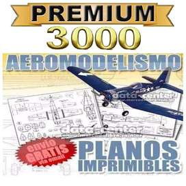 3000 Planos Aeromodelismo Radiocontrol Aviones Radio Control
