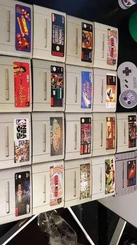 Vendo juegos de súper Nintendo