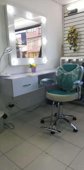 Muebles para pestañas o peluqueria