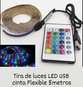Tira de luces LED USB